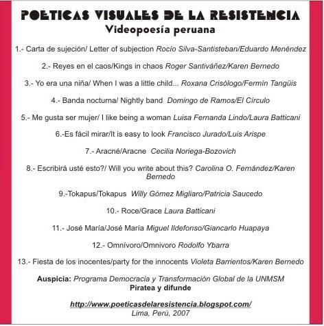 Poéticas visuales de la resistencia